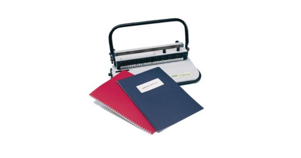 GBC WBM 34C - pons/bindmachine voor 3:1 draadkammen + duimstansgat
