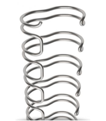 Wire draadkam 3:1 - 6,9mm - 1/4 - Zilver - 100 stuks